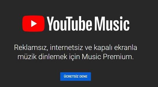 YouTube Müzik Duyuruldu